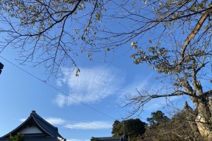 雲が高い秋空