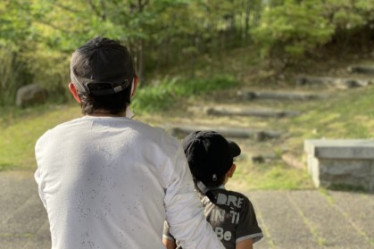 息子とパパ