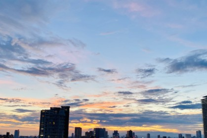夕焼けを眺めて