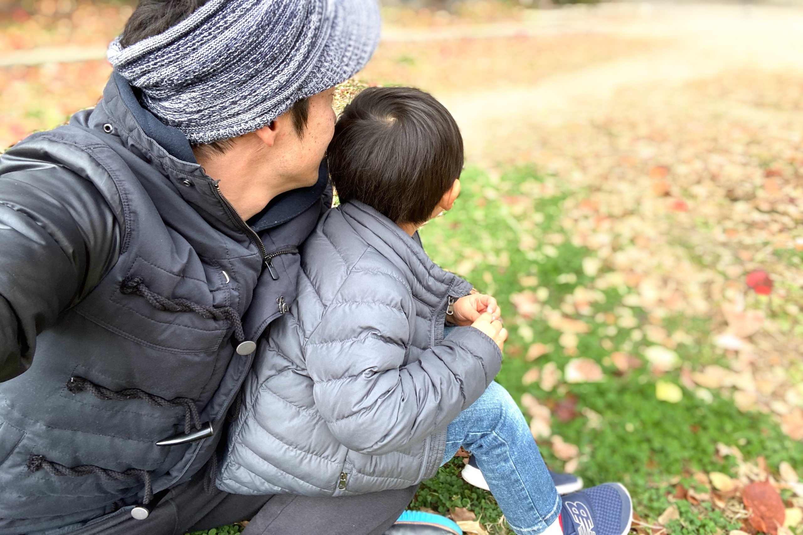 息子と散歩
